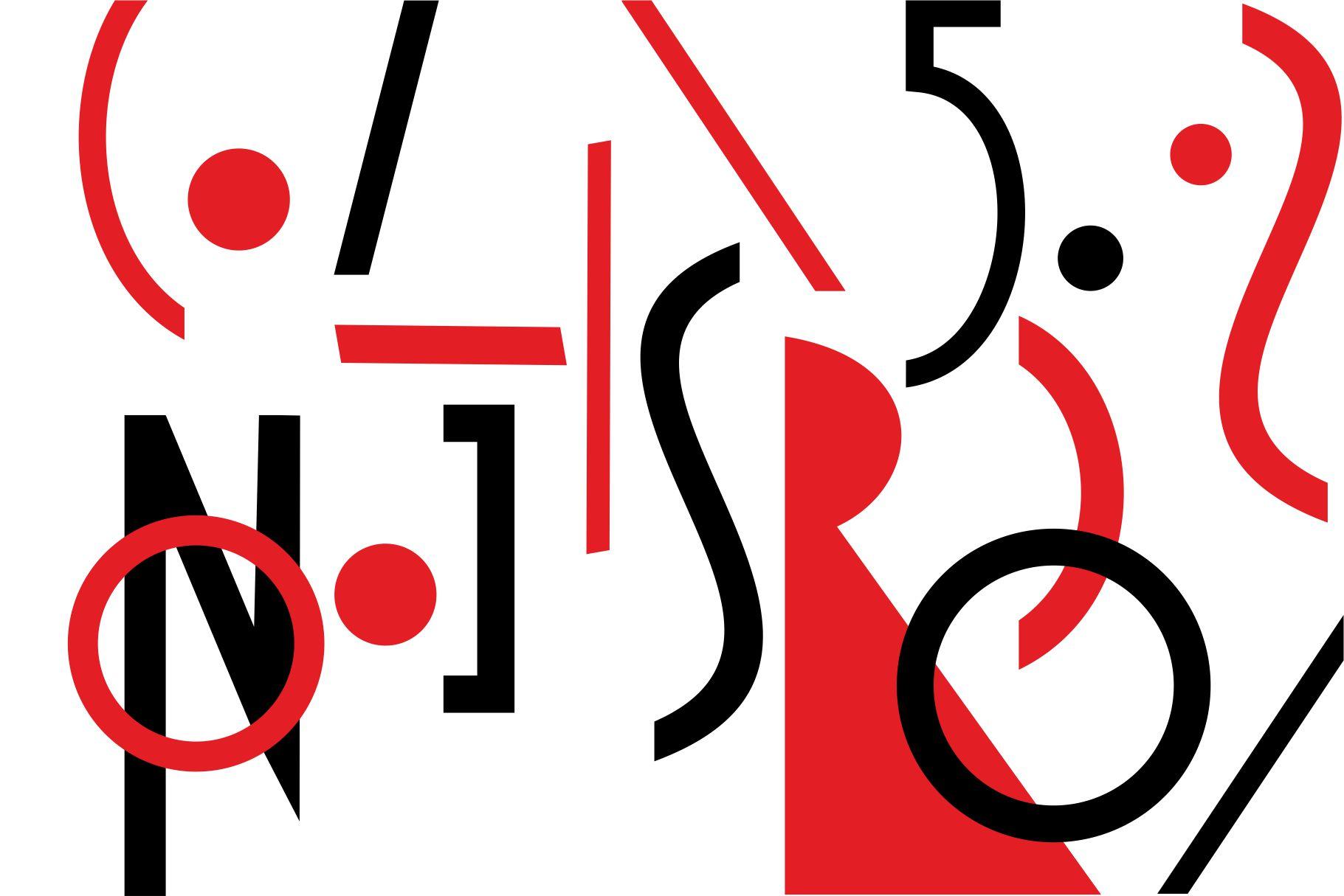 Malarstvo avangard color font example image 4