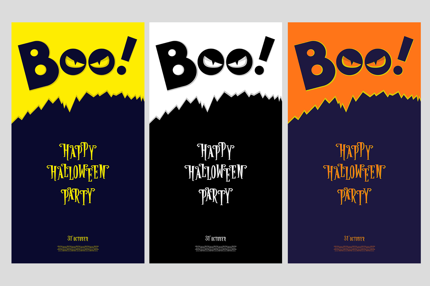 Set of 28 Halloween banner different color and character example image 5