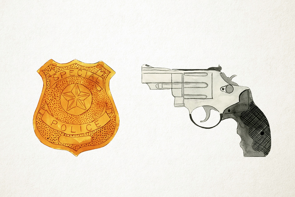 Watercolor Police Clipart, Police Graphics, Police Vector example image 4