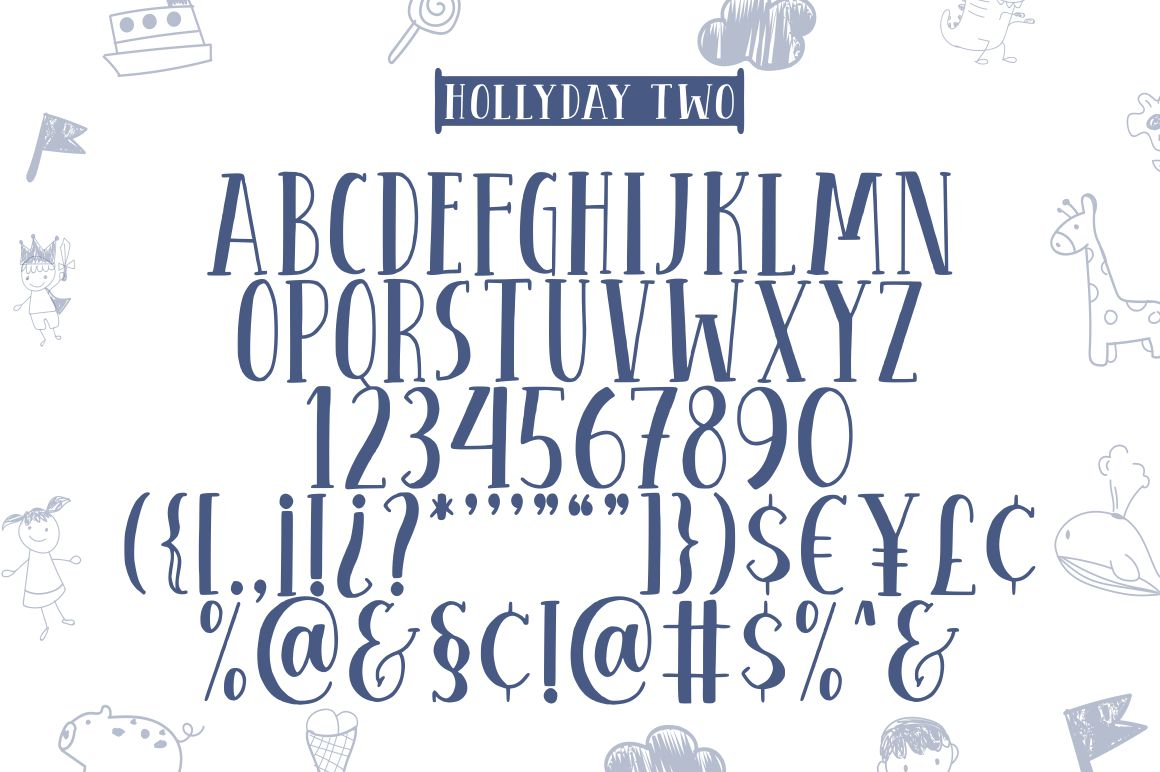 Hollyday - Handdrawn Font example image 7