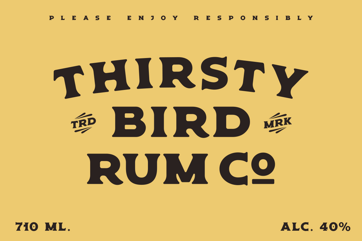 Old Spirits Display Font example image 2