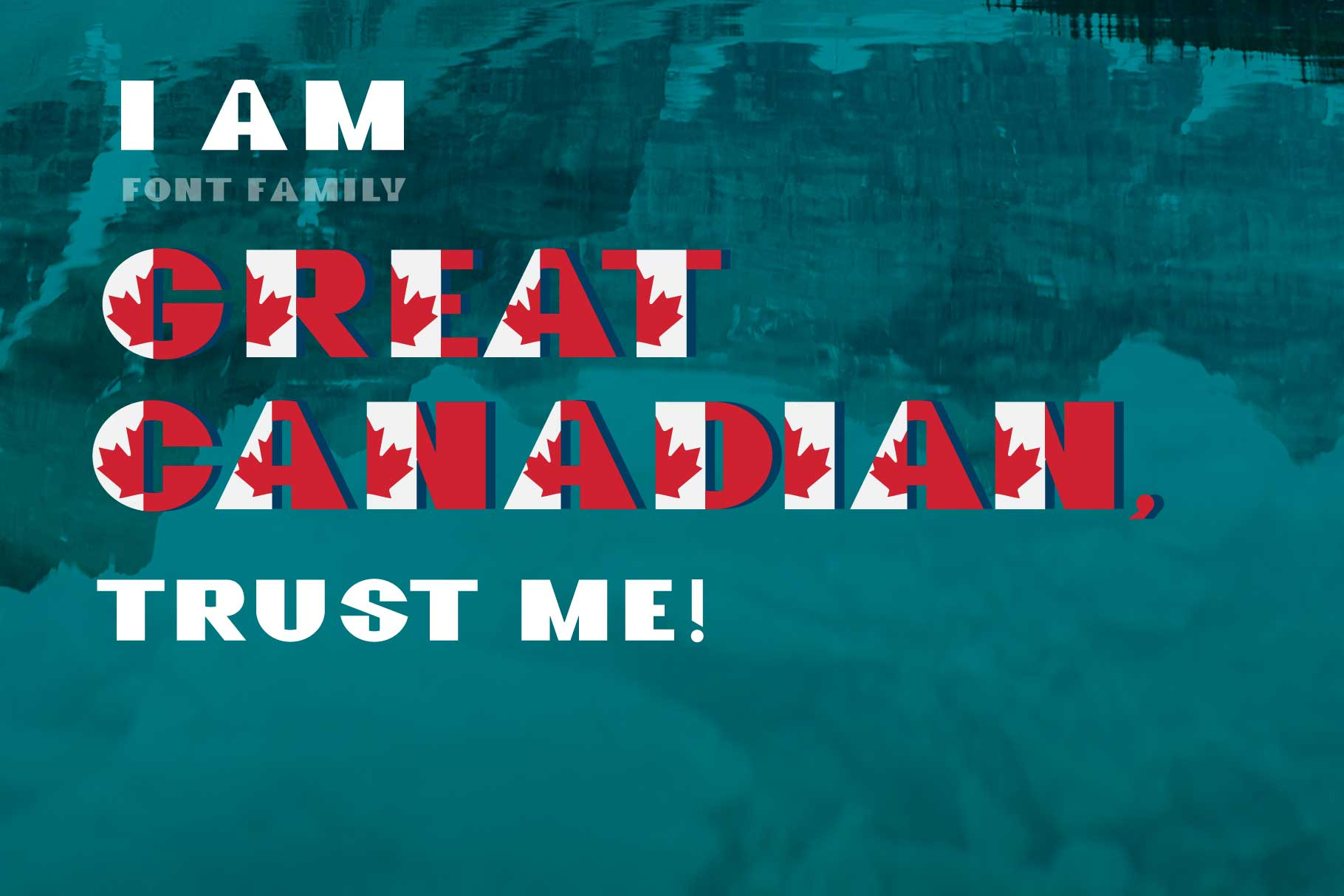 GreatCanadian-font family example image 8