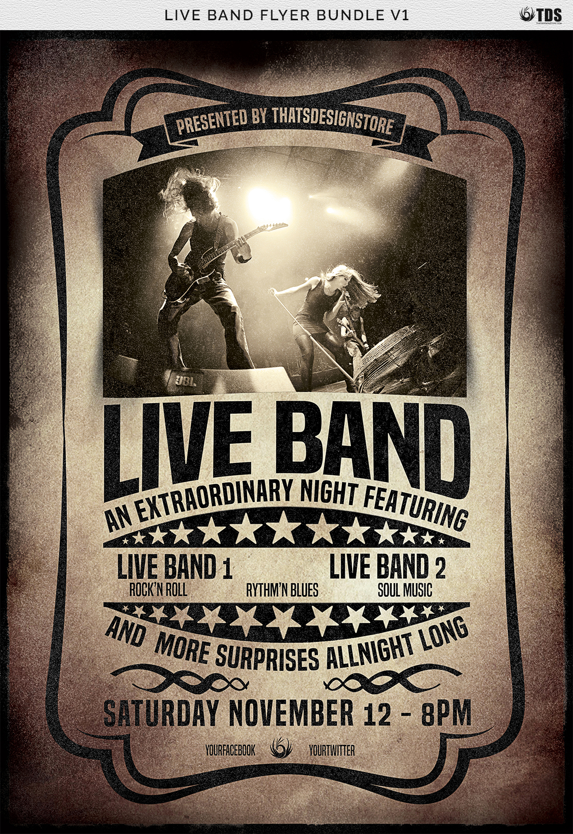 Live Band Flyer Bundle V1 example image 8