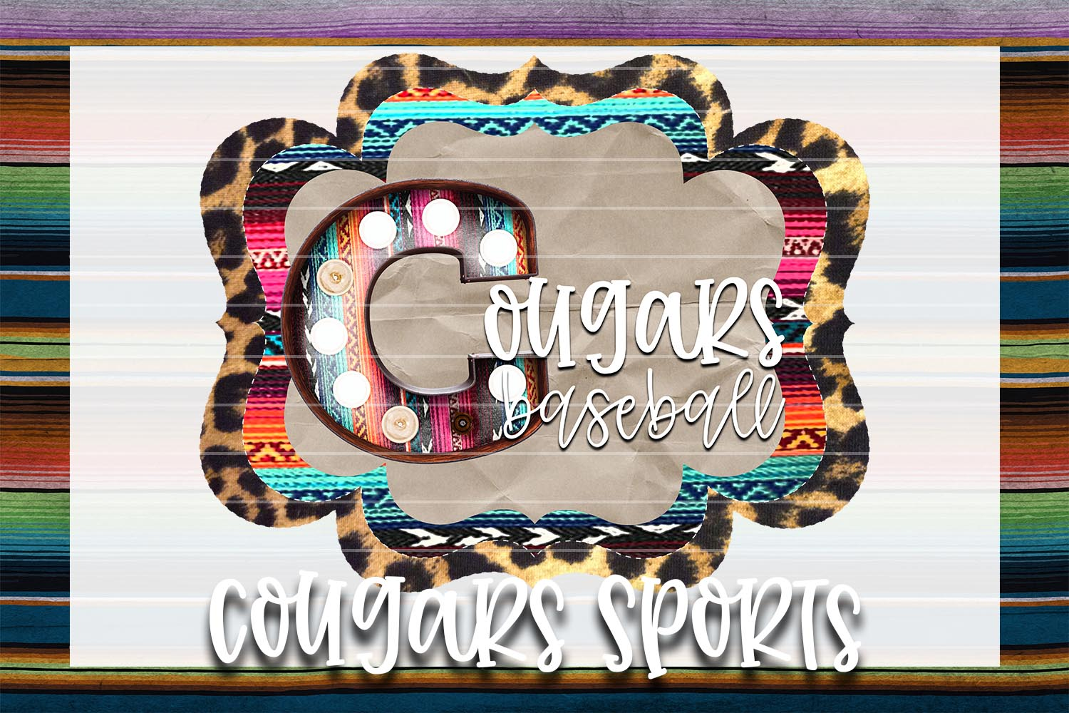 Cougars Baseball Sublimation PNG example image 1