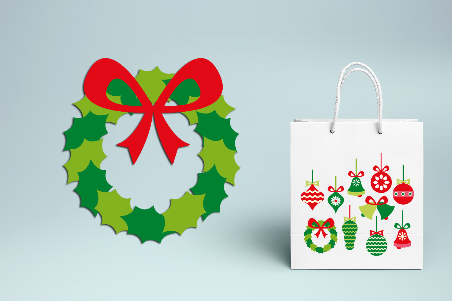 Christmas Hanging Ornaments Illustrations example image 3
