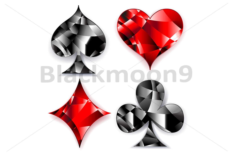 Polygonal Symbols Of Playing Cards By B Design Bundles