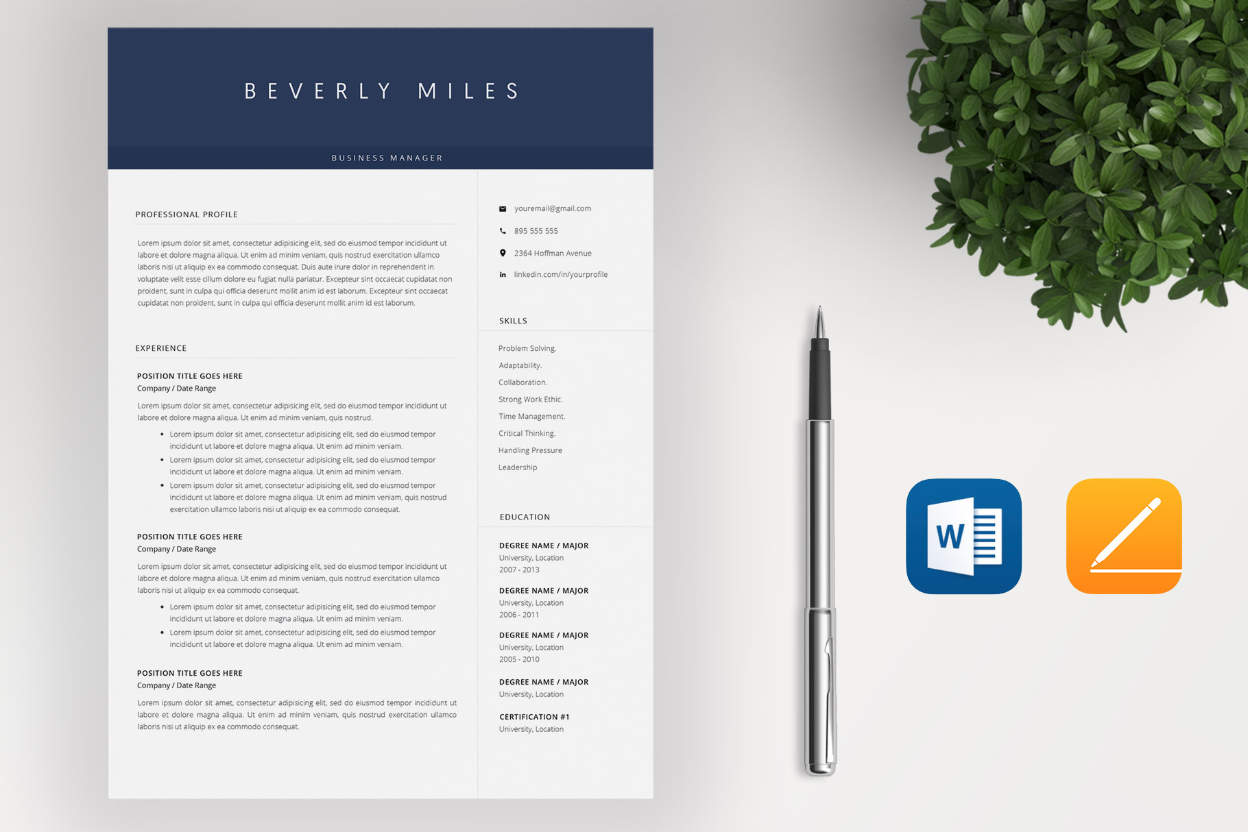 Resume Template and Cover Letter | CV template example image 2