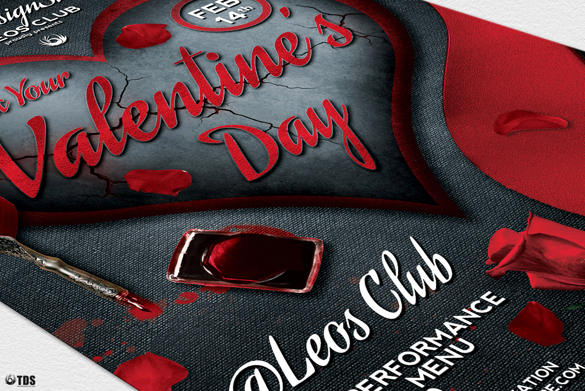 Rock Your Valentine Flyer Template example image 6