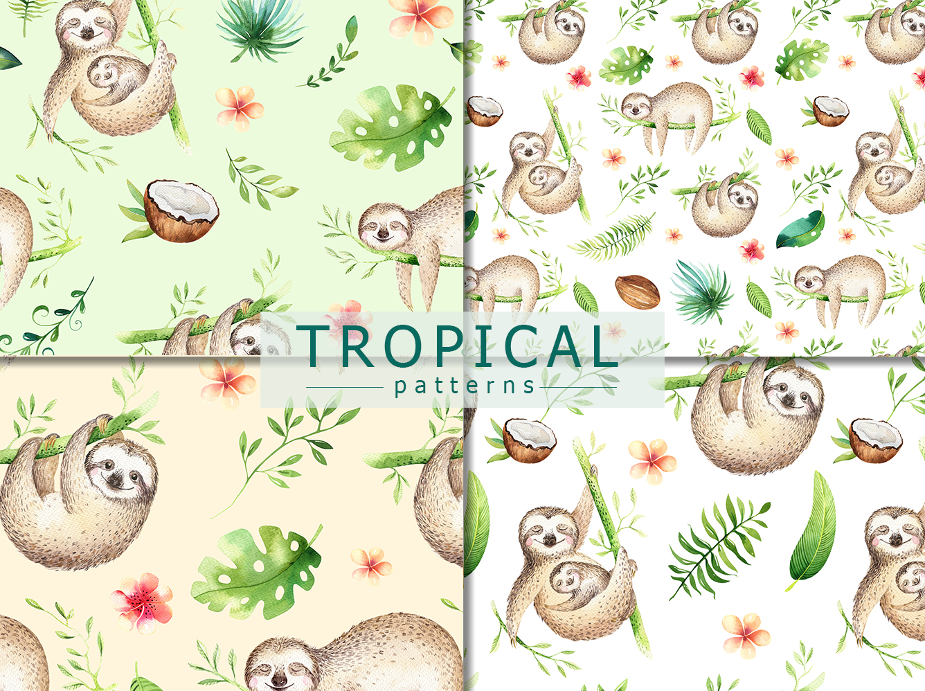 Tropical party III.Sloth collection example image 6