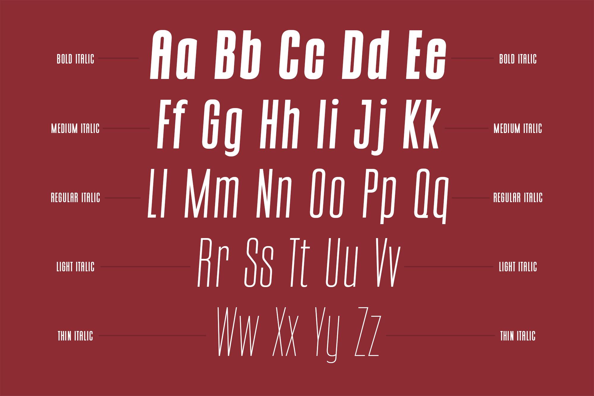 CONQUEST Sans & Slab Serif example image 8