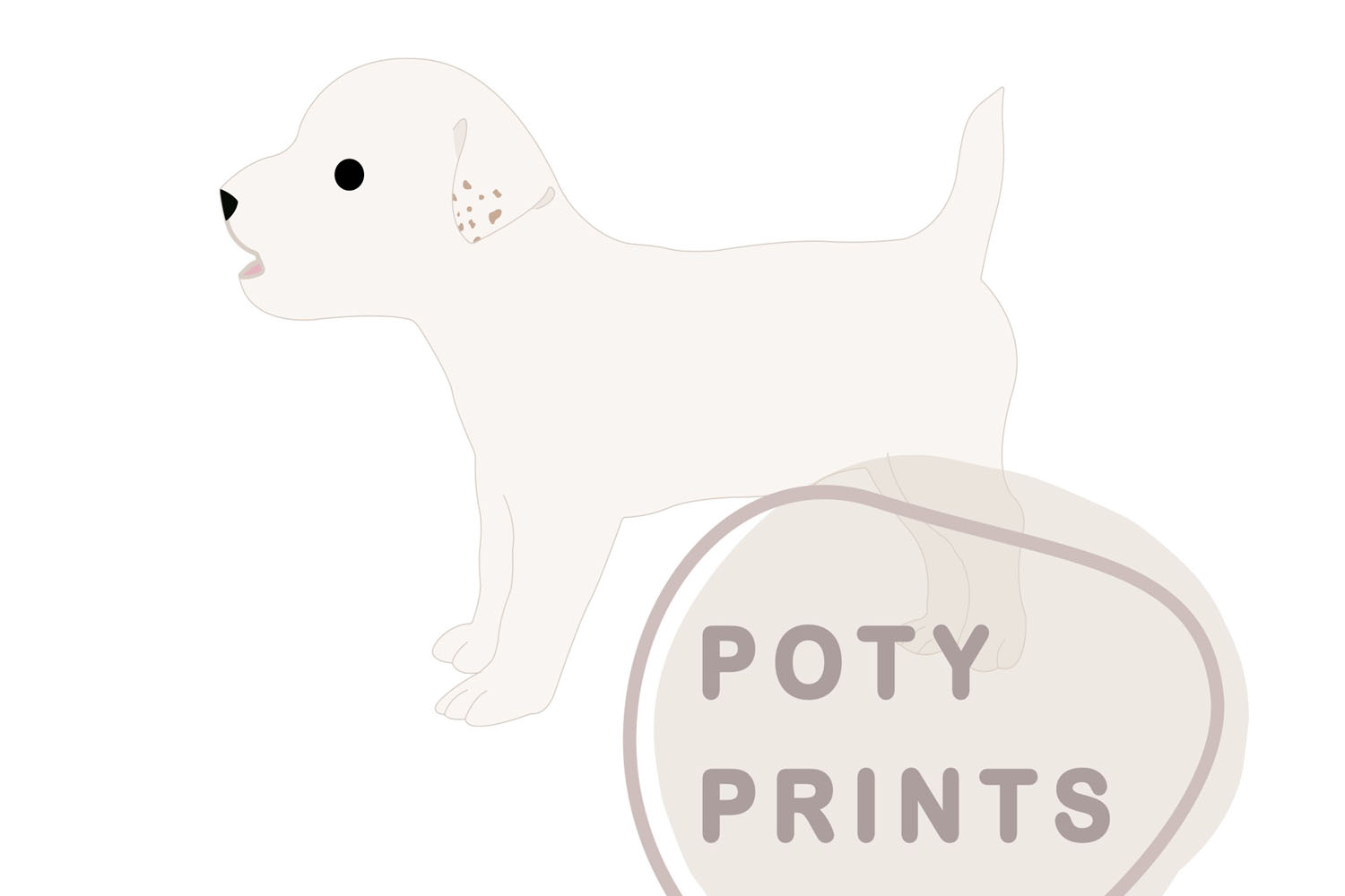 Little white dog svg files example image 1