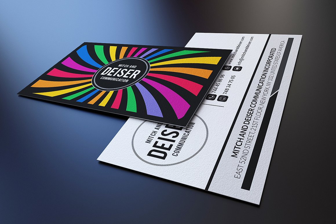 Colorful Business Card example image 2