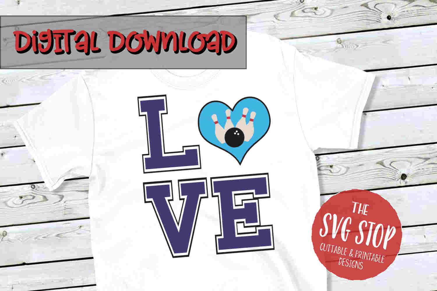 Love Bowling 4 -SVG, PNG, DXF example image 1