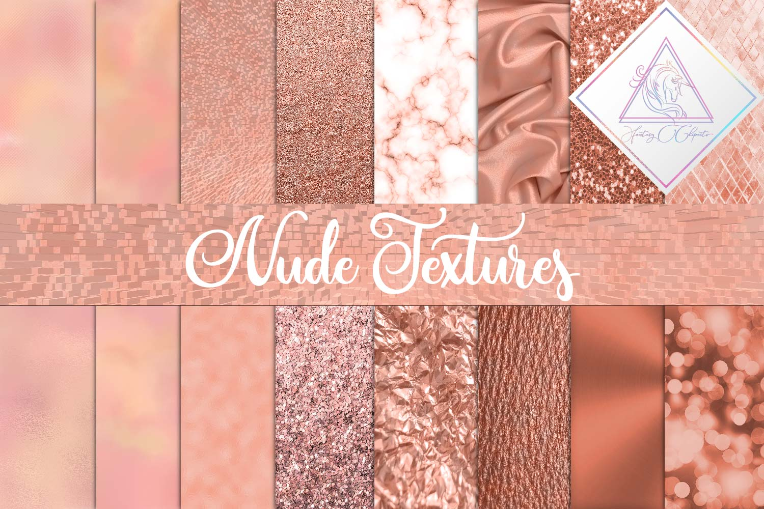 Nude Textures Digital Paper example image 1