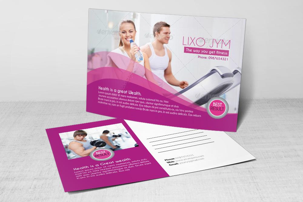 Body Fitness Club Postcard example image 3