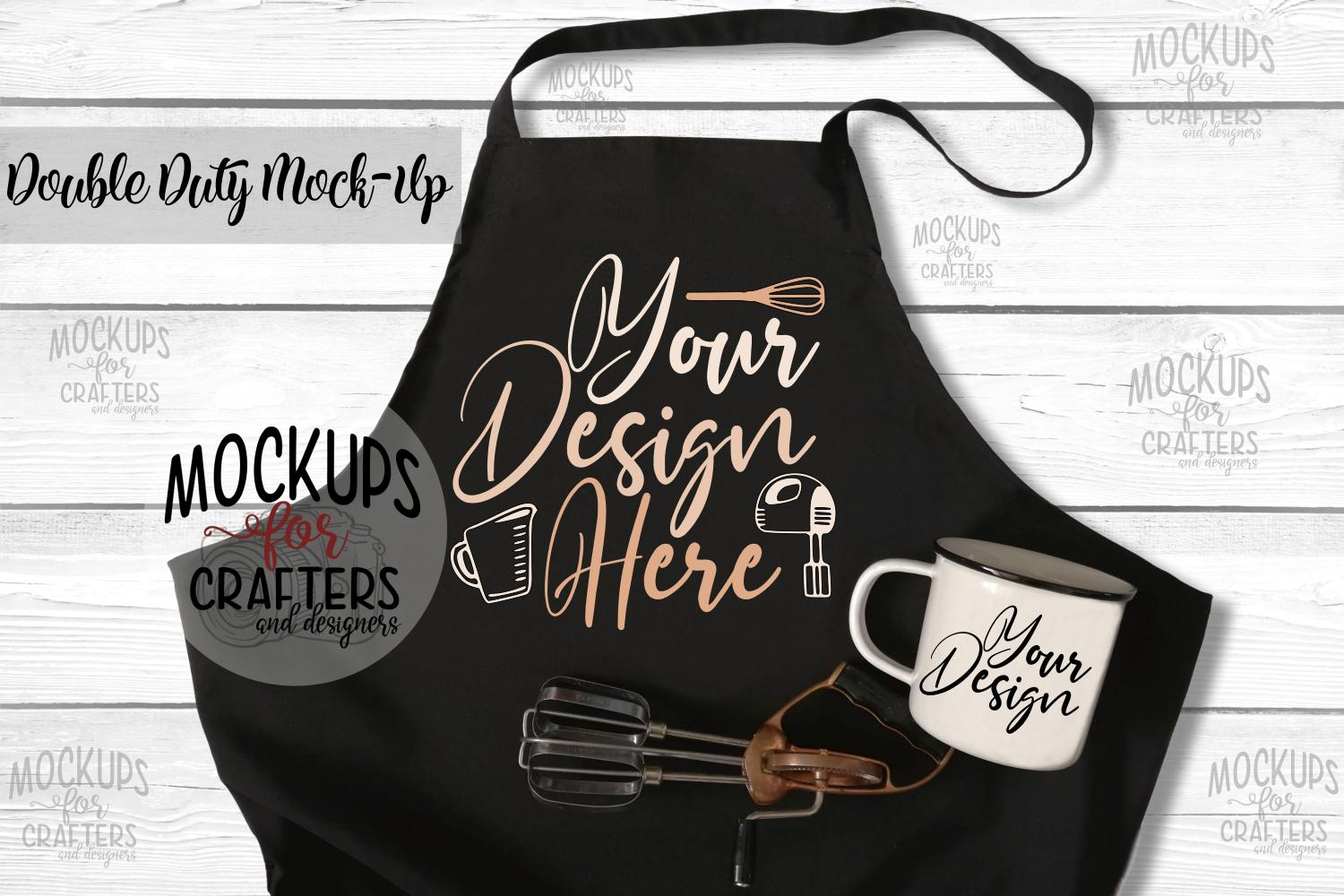 Apron, Mug - Double Duty Mock-Up example image 1