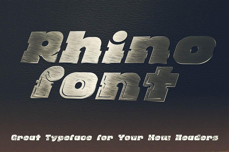 Rhino - Display Font example image 2