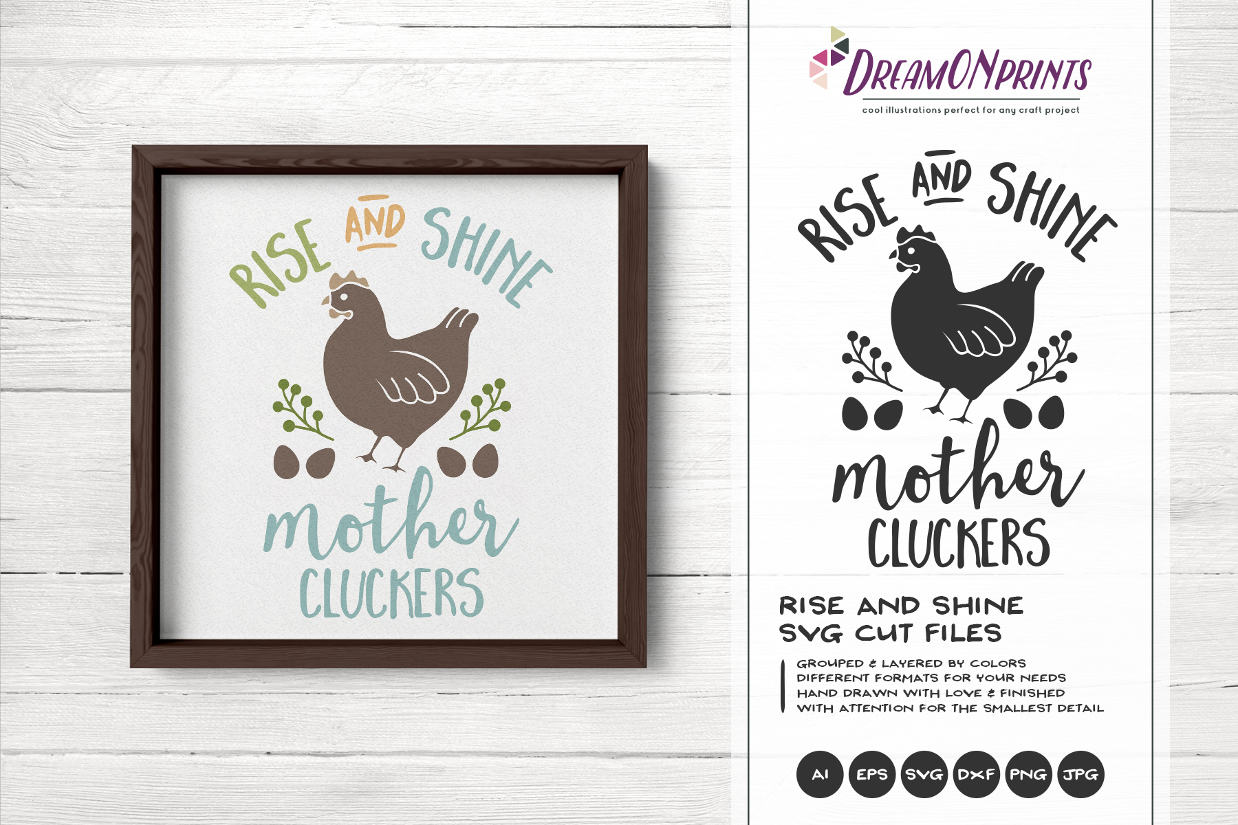 Rise and Shine Mother Cluckers SVG example image 1
