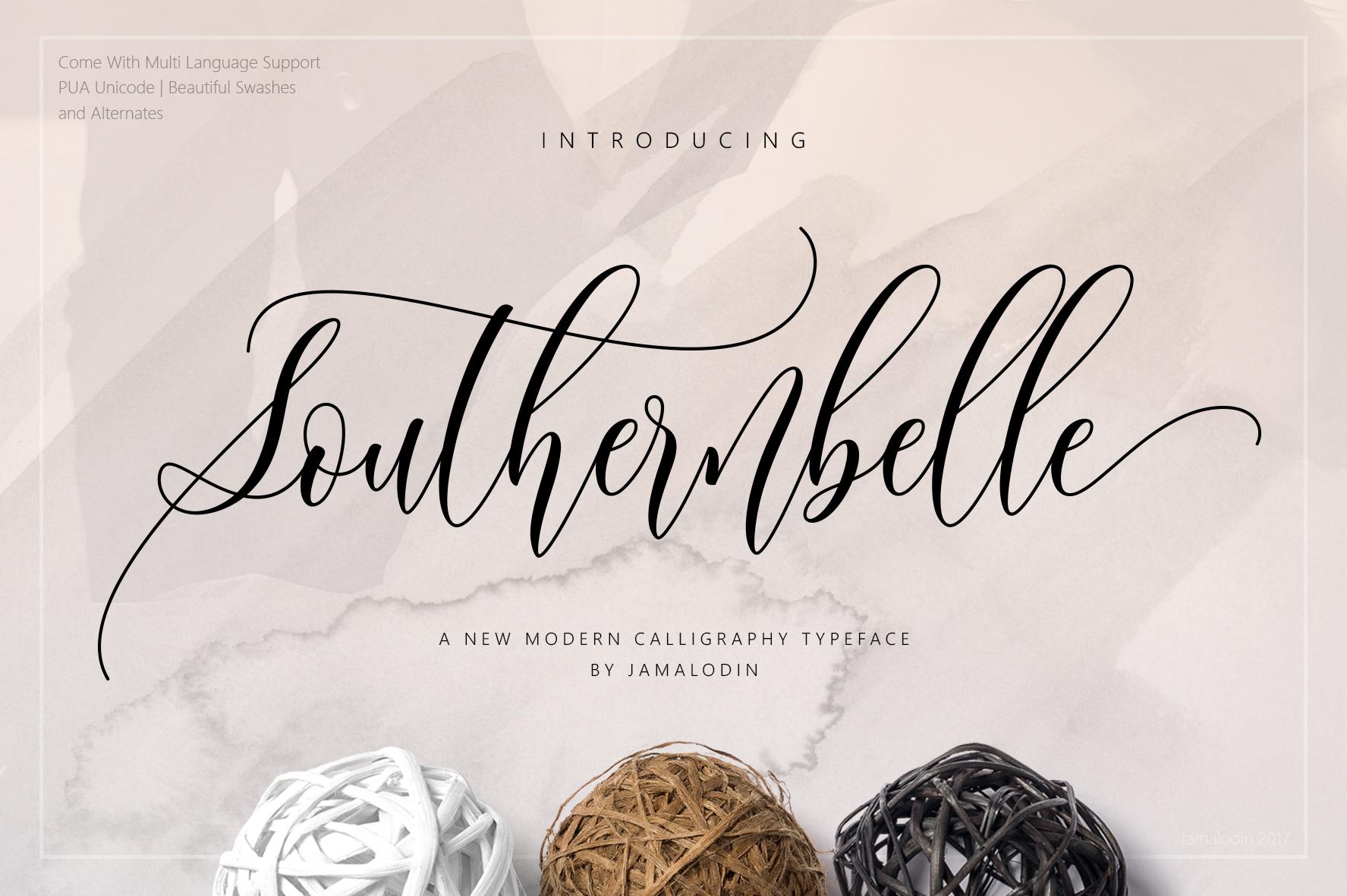 Southernbelle Script example image 1