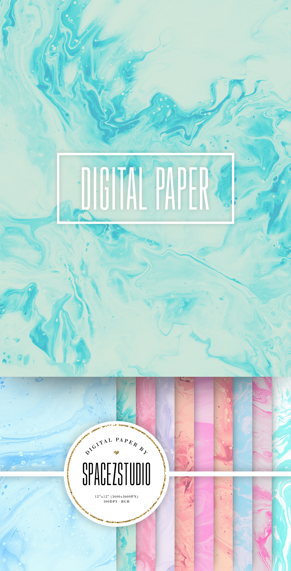 Abstract Pastel Backgrounds - Modern Marble Digital Paper example image 6