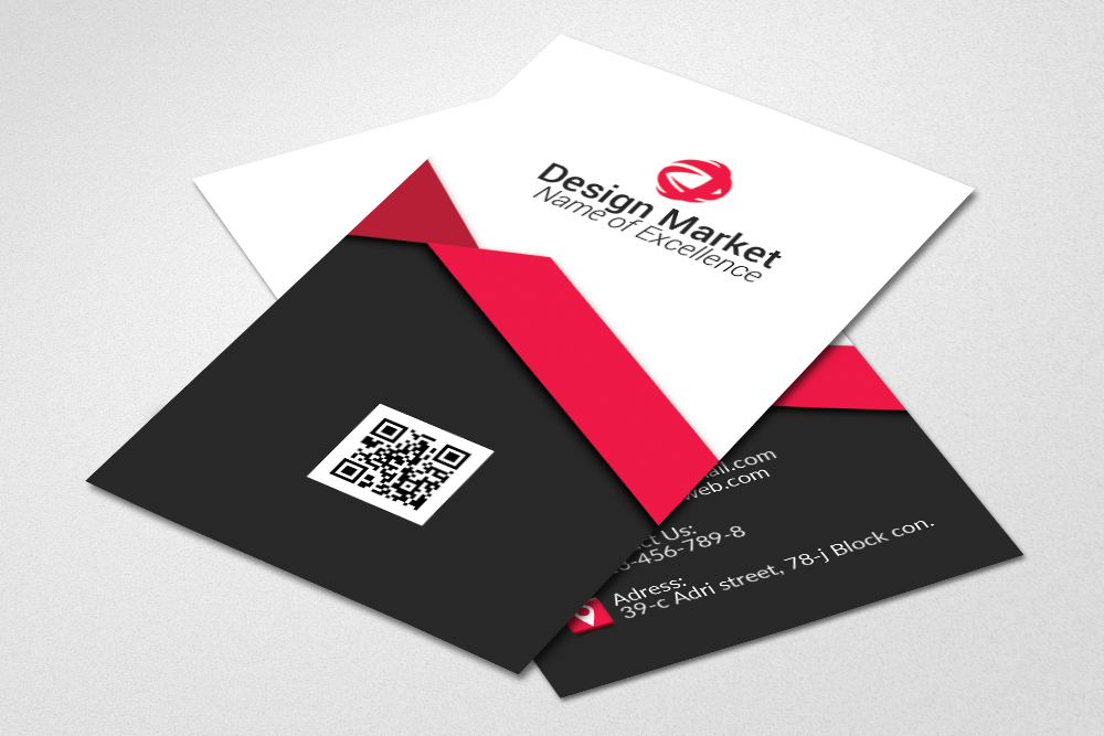 Vertical Business Cards Psd Templates example image 3