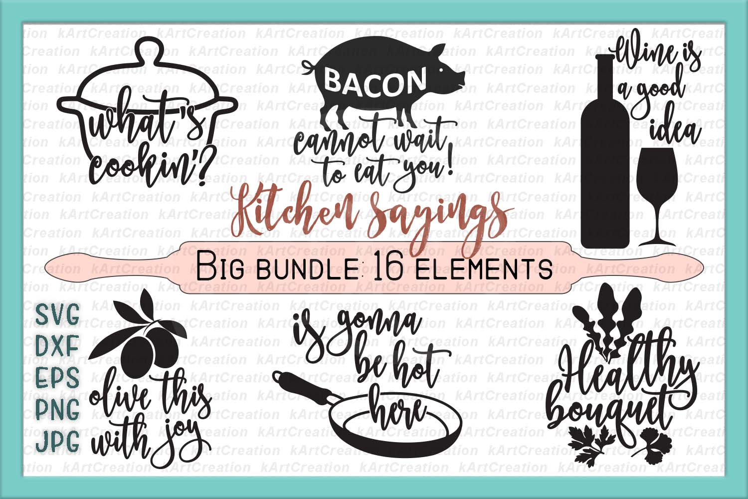 bundle kitchen sayings towel designs svg dxg cutting files example image 1 - Kitchen Sayings