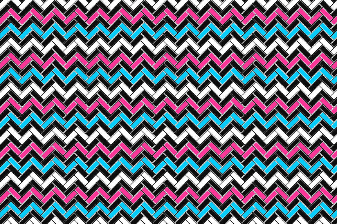 Geometric seamless color patterns. example image 7