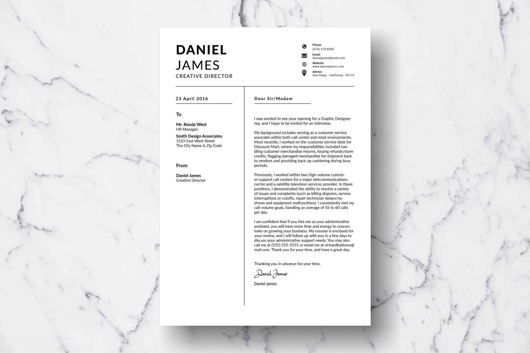 Resume Template Vol. 11 example image 3