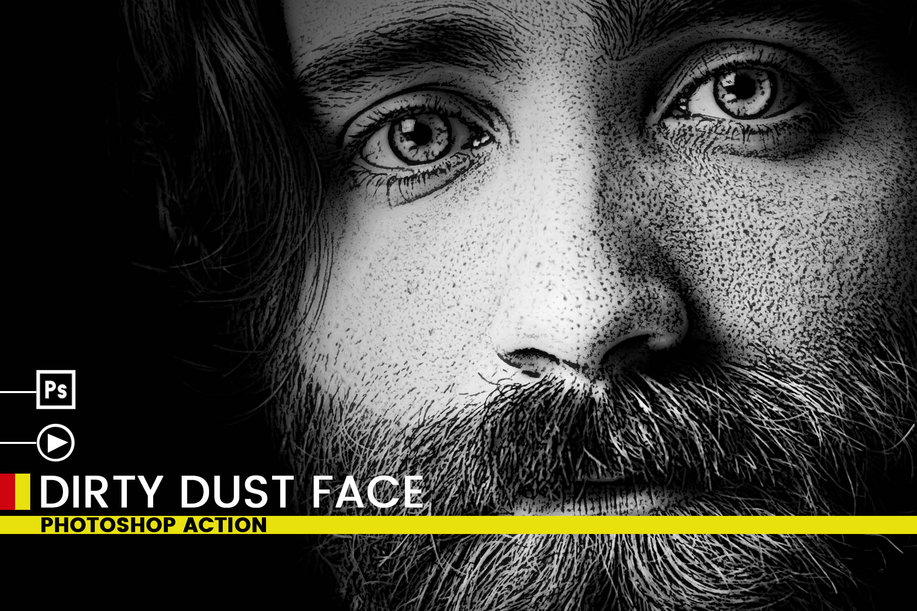 Dirty Dust Face Photoshop Actions example image 5
