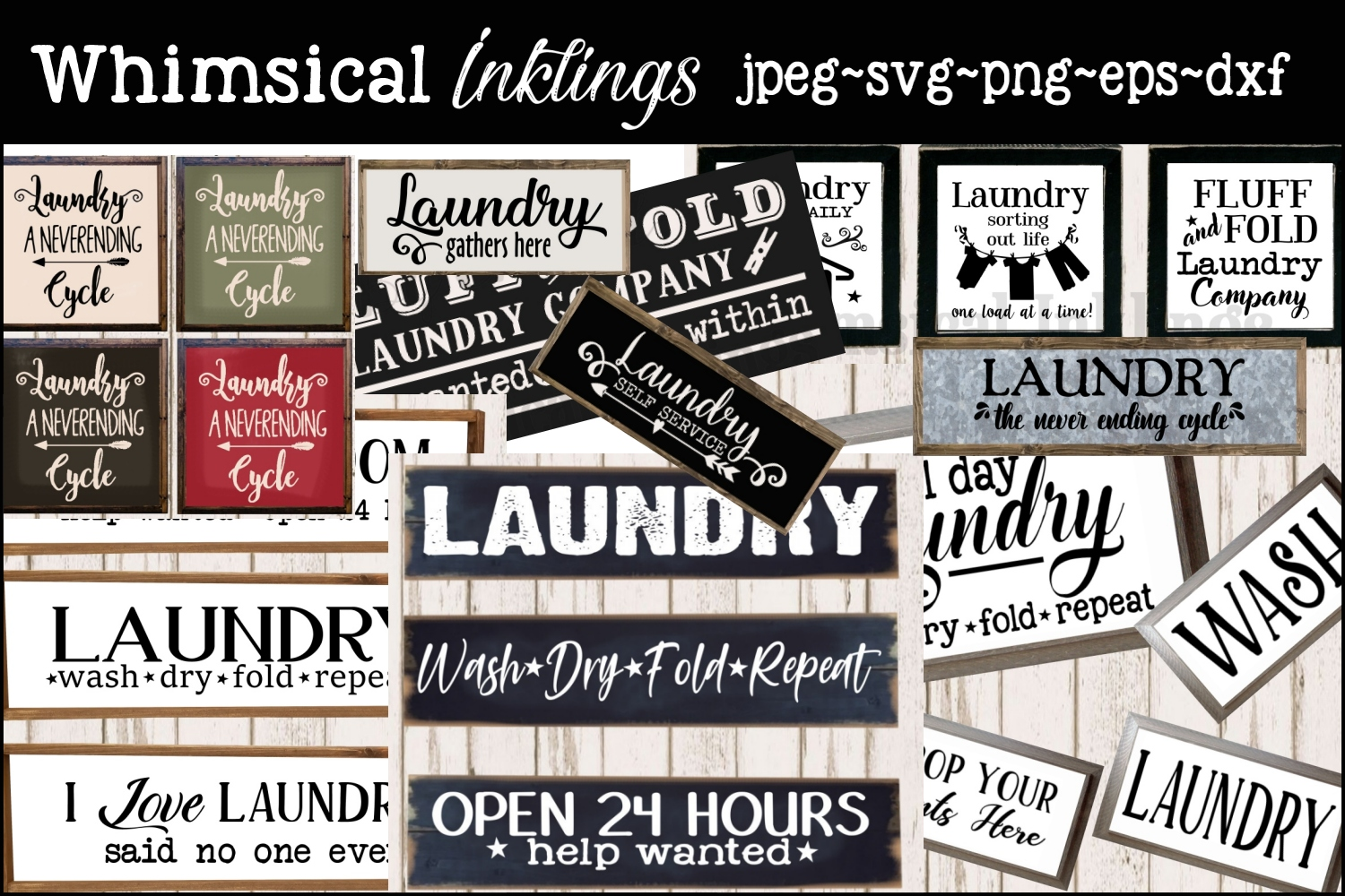 Super Laundry SVG Bundle MONTHLY SPECIAL- OVER 50 IMAGES example image 1