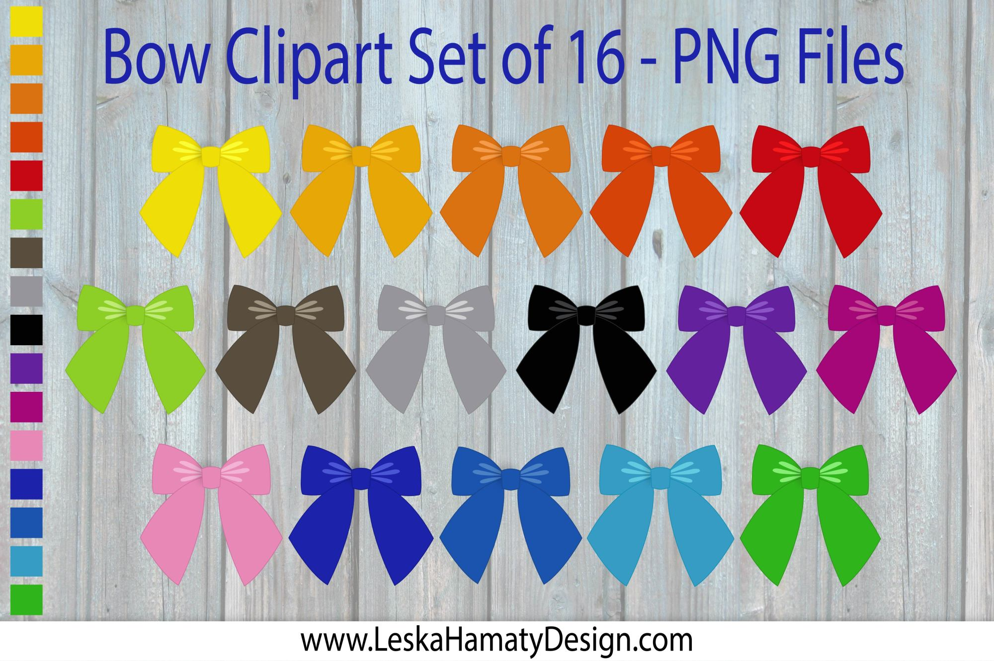 Bow Clipart Scrapbook Embellishment example image 1