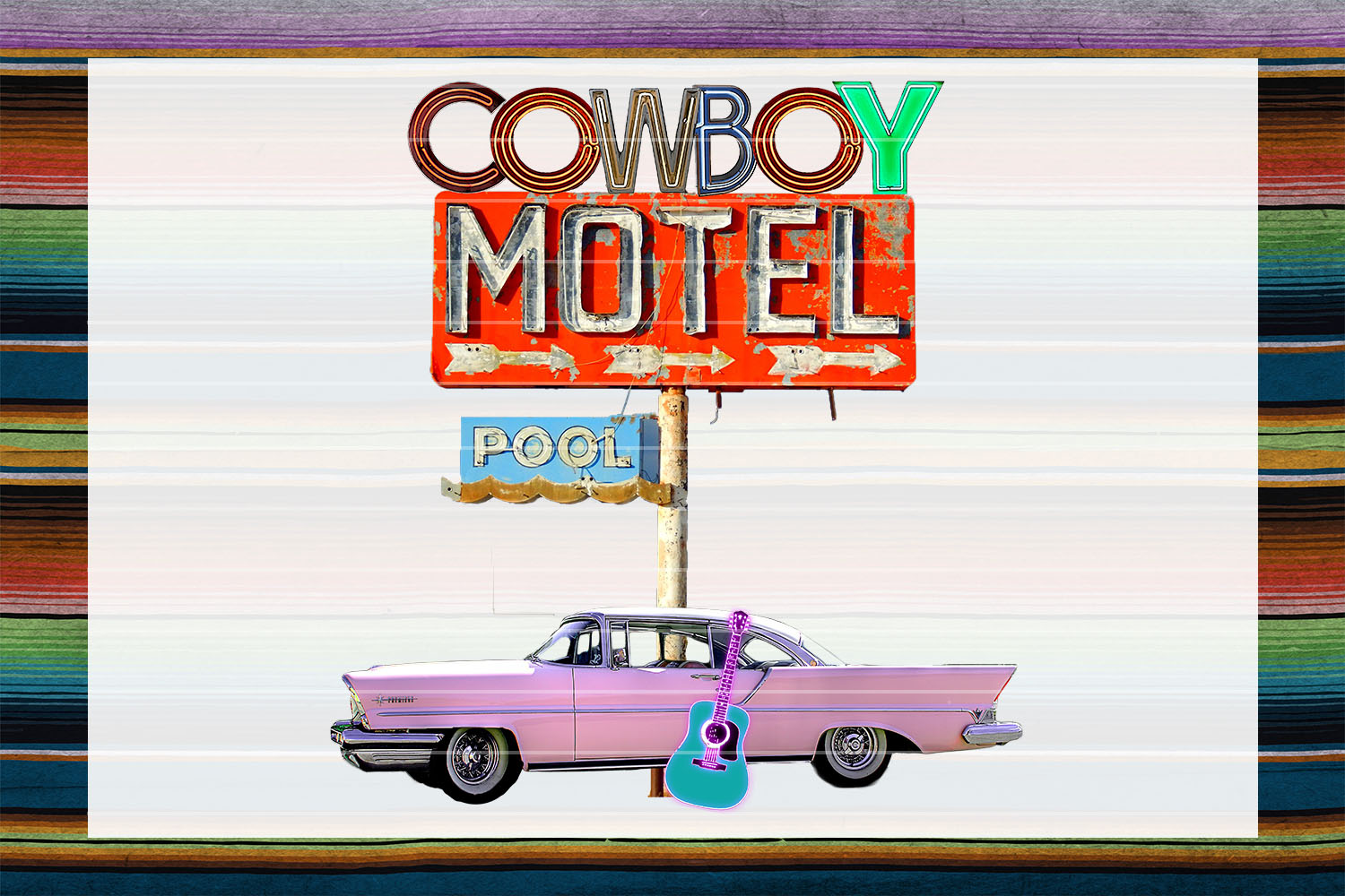 Cowboy Motel Sublimation Digital Download example image 1
