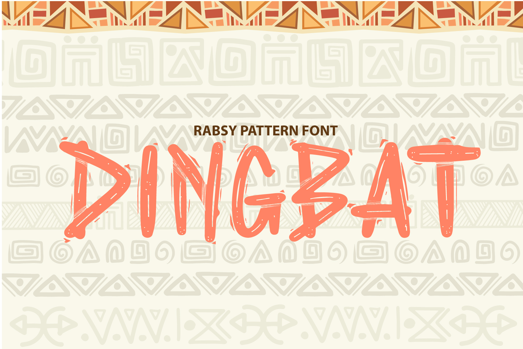 Rabsy African pattern font example image 7