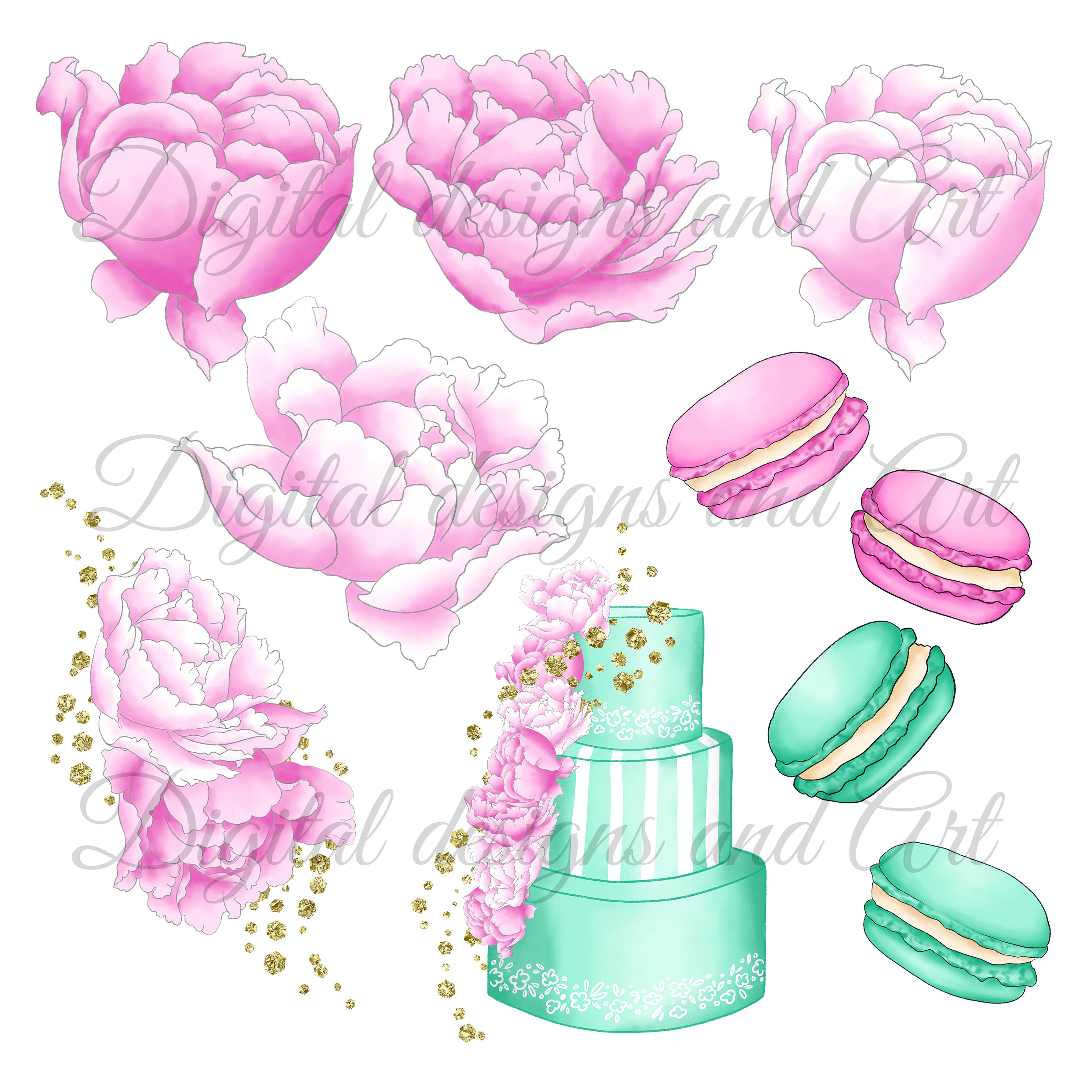 Fashion cakes clipart example image 5