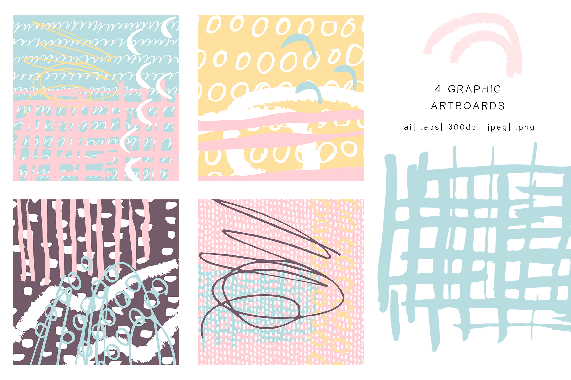 Abstract design elements. Collages & seamless patterns example image 2