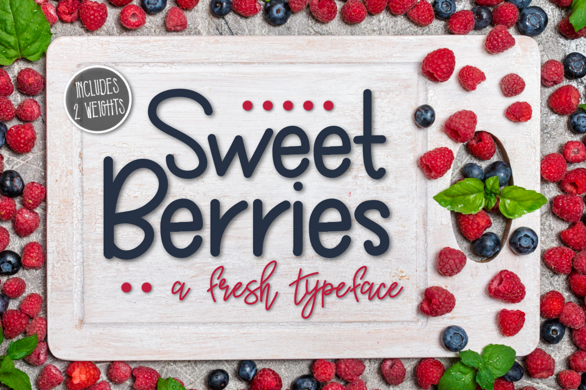 Sweet Berries a Fresh Typeface example image 1