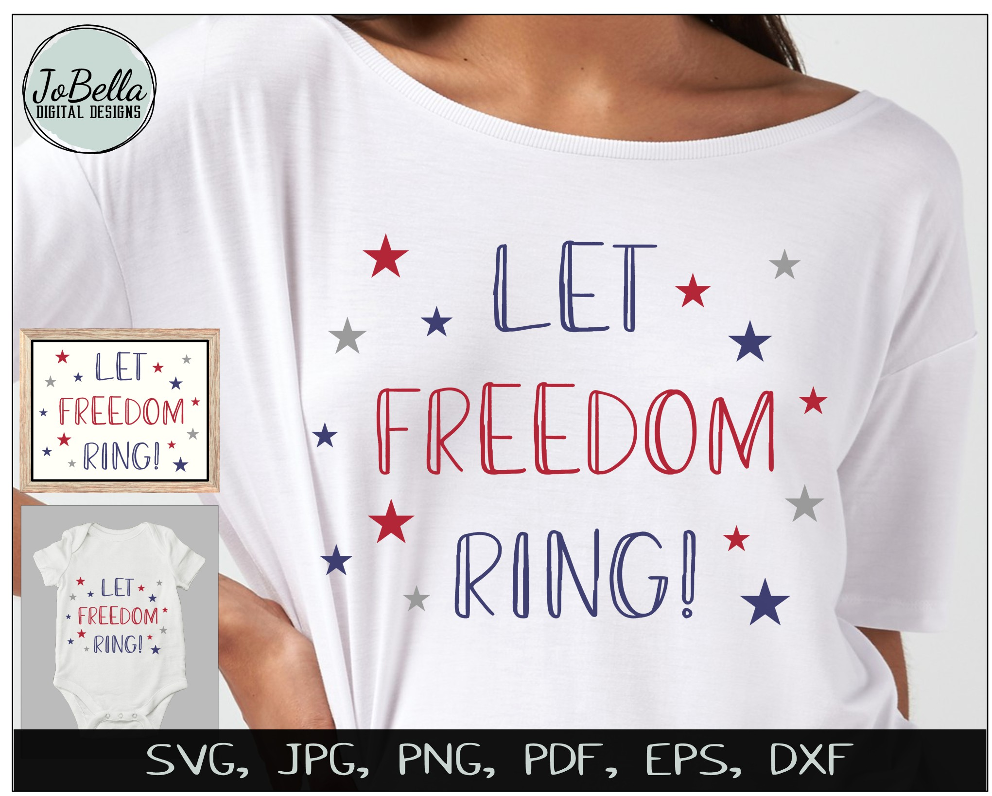 Patriotic SVG Bundle- July 4th Sublimation PNGs & Printables example image 7