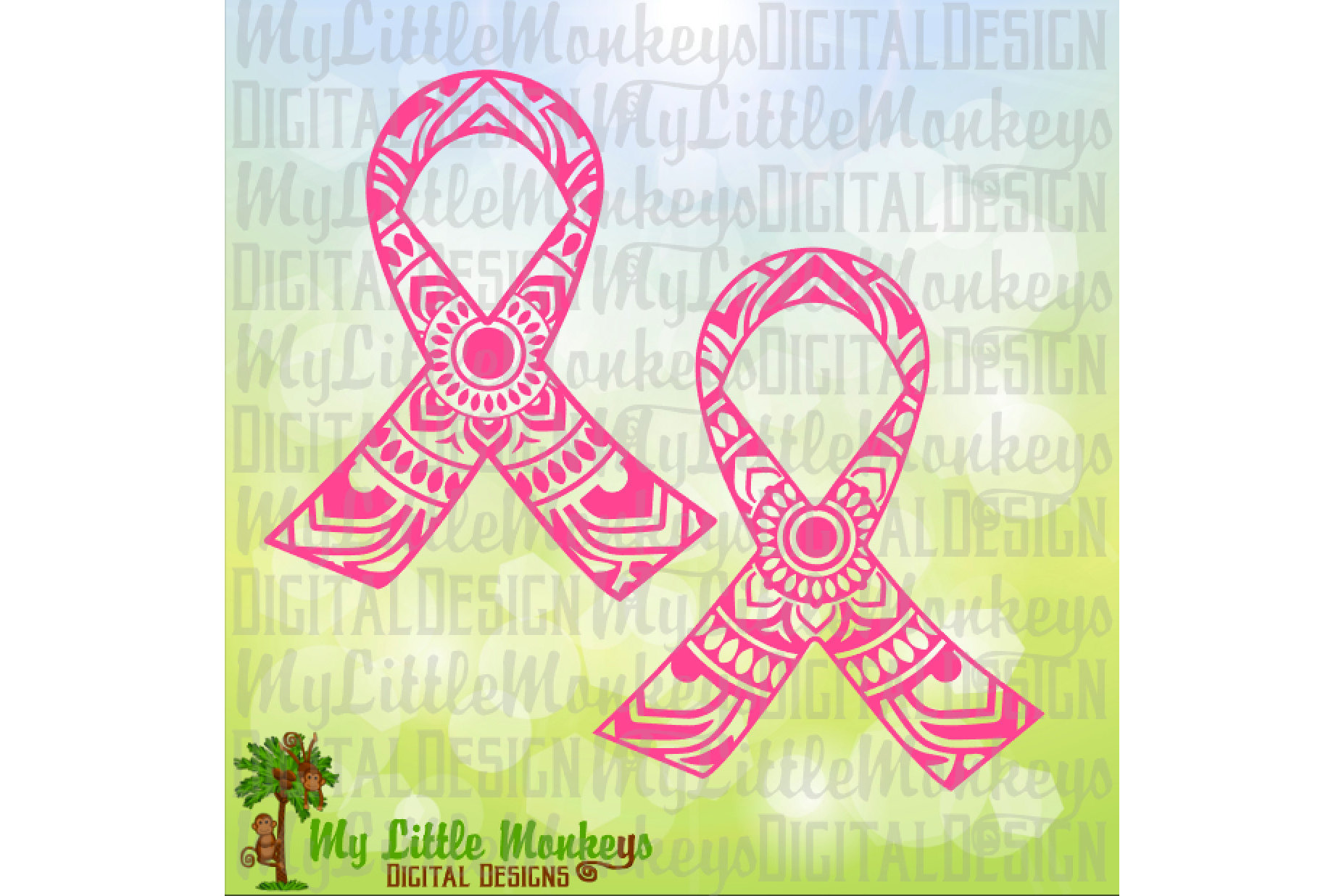 Awareness Ribbon Mandala example image 1