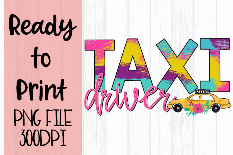 Taxi Driver Occupations Bright Ready to Print Design example image 1