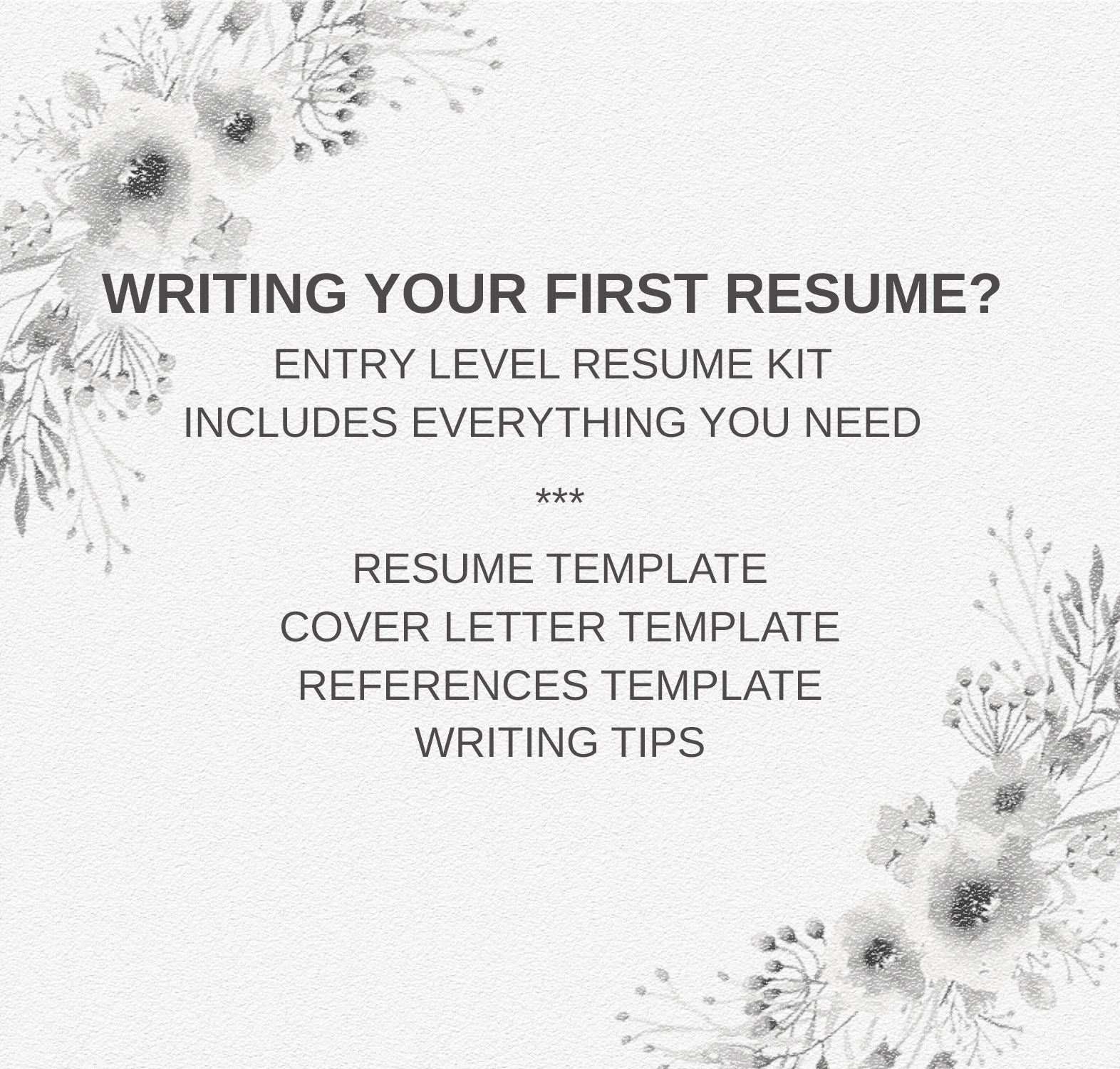 Resume Template Entry Level | Career Starter Pack example image 5