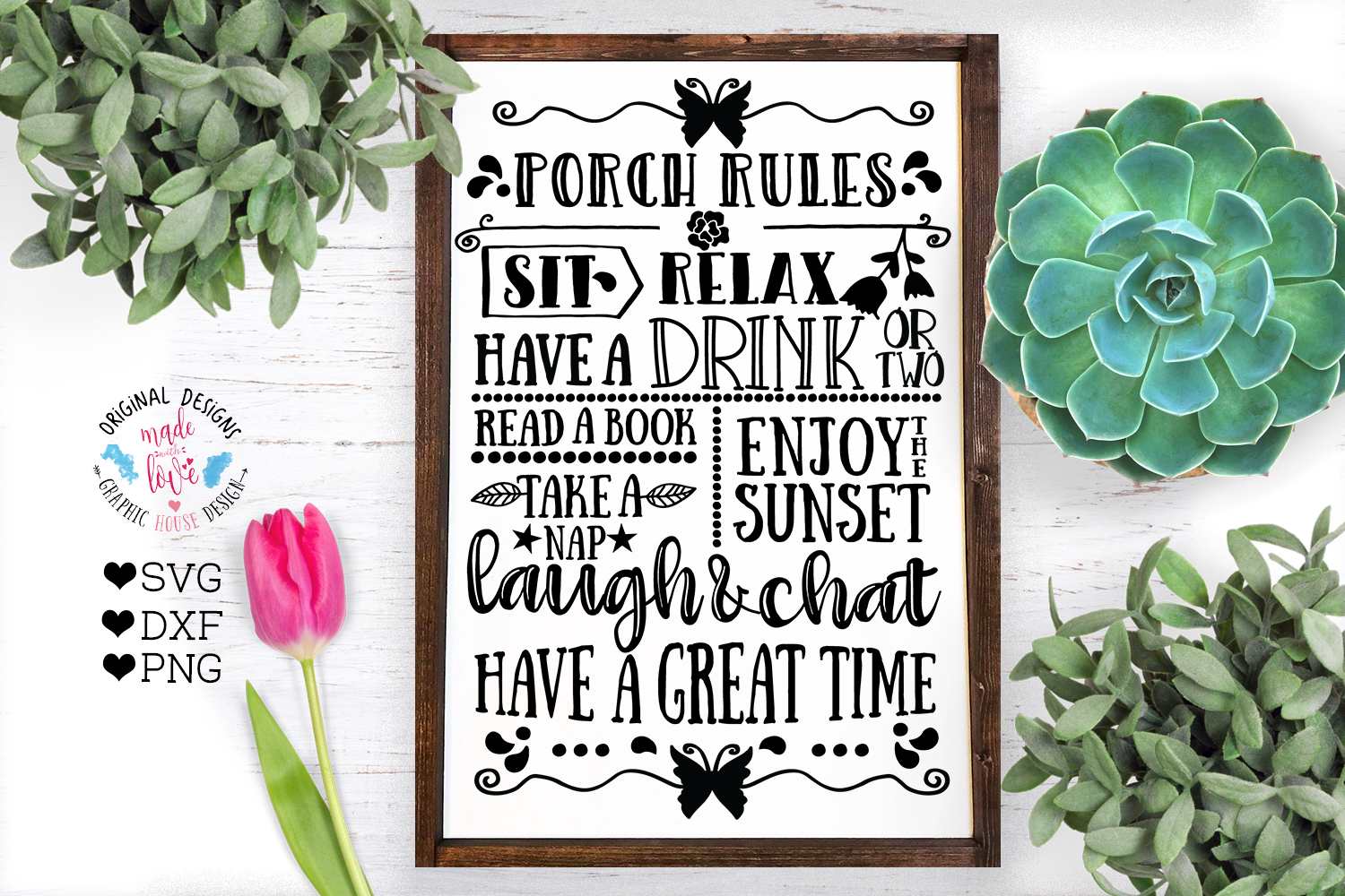 Home and Summer Decor Rules Cut File Bundle example image 9