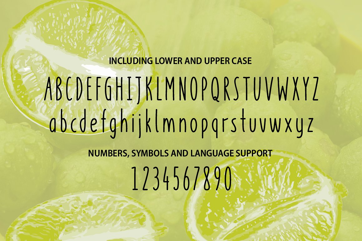 Key Lime - A fruity fresh drawn font example image 3