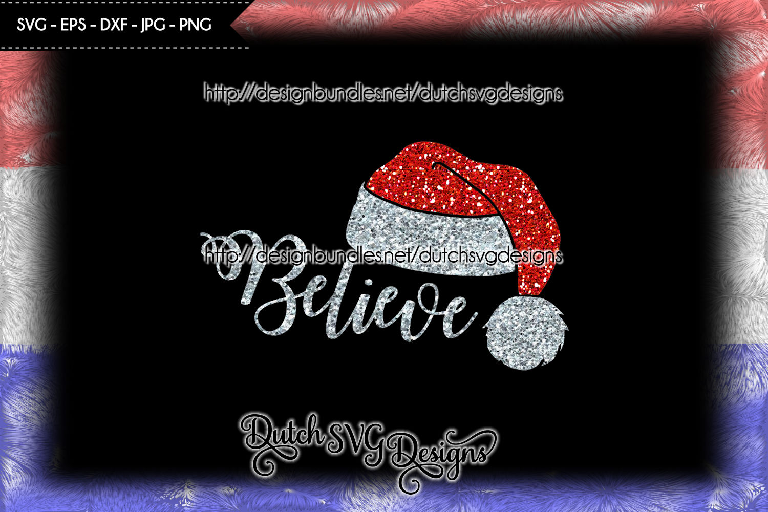 Cutting file Believe with Santa hat, christmas svg, xmas svg example image 4
