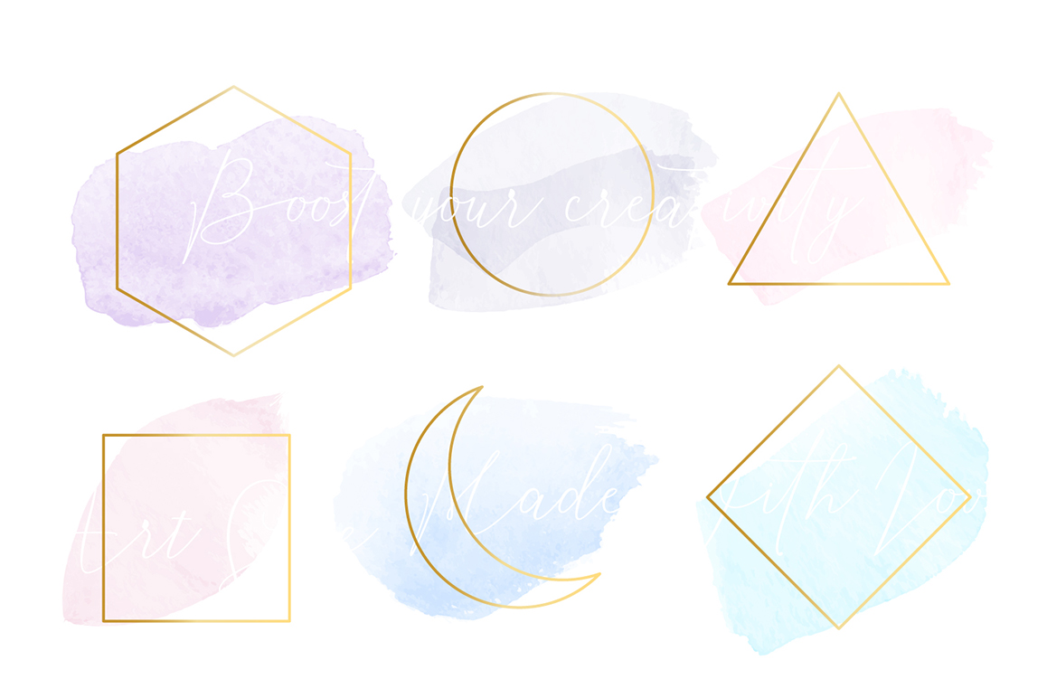 Watercolour Brushes Vector for Adobe Illustrator example image 3