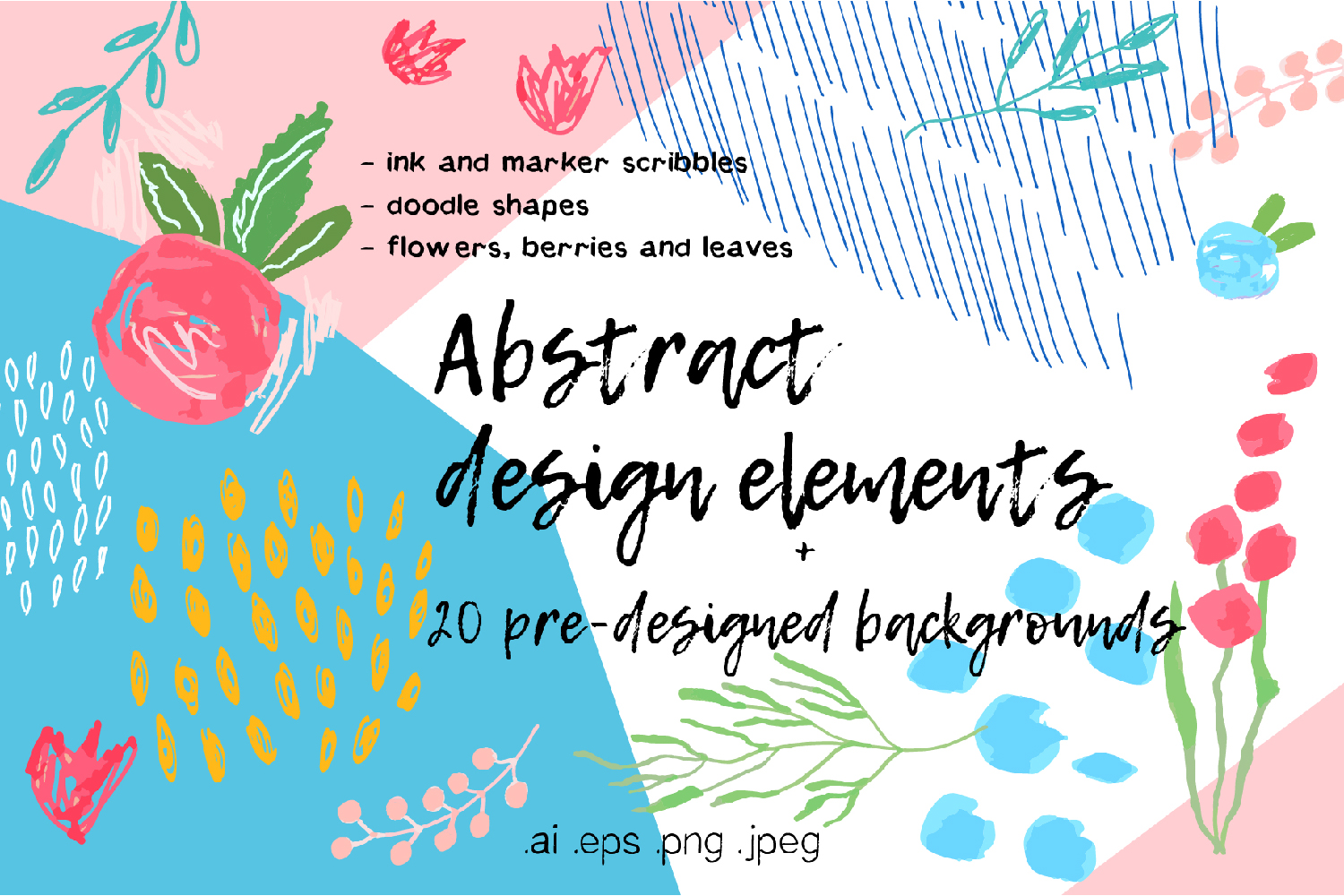 Abstract design elements collection example image 1