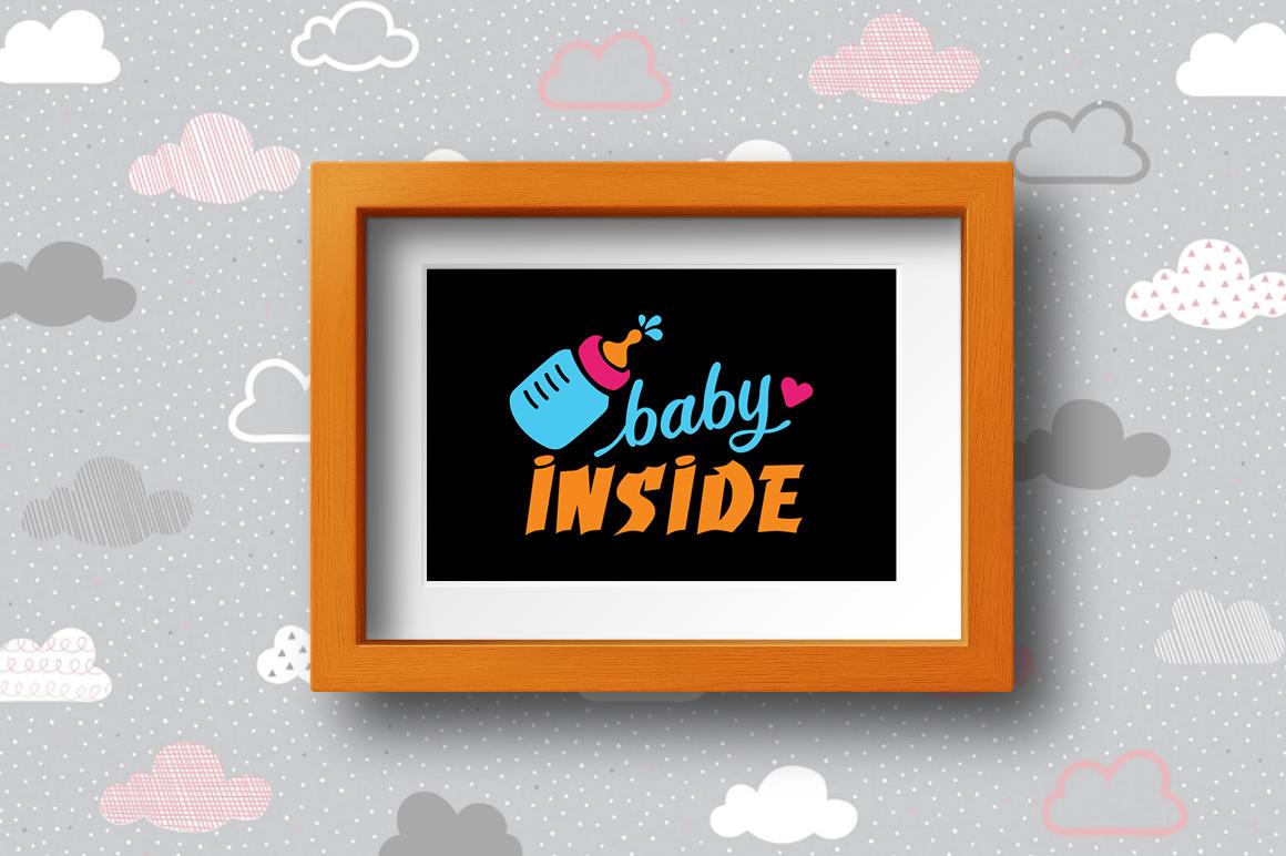 BUNDLE Pregnancy Announcement SVG Cut Files example image 25