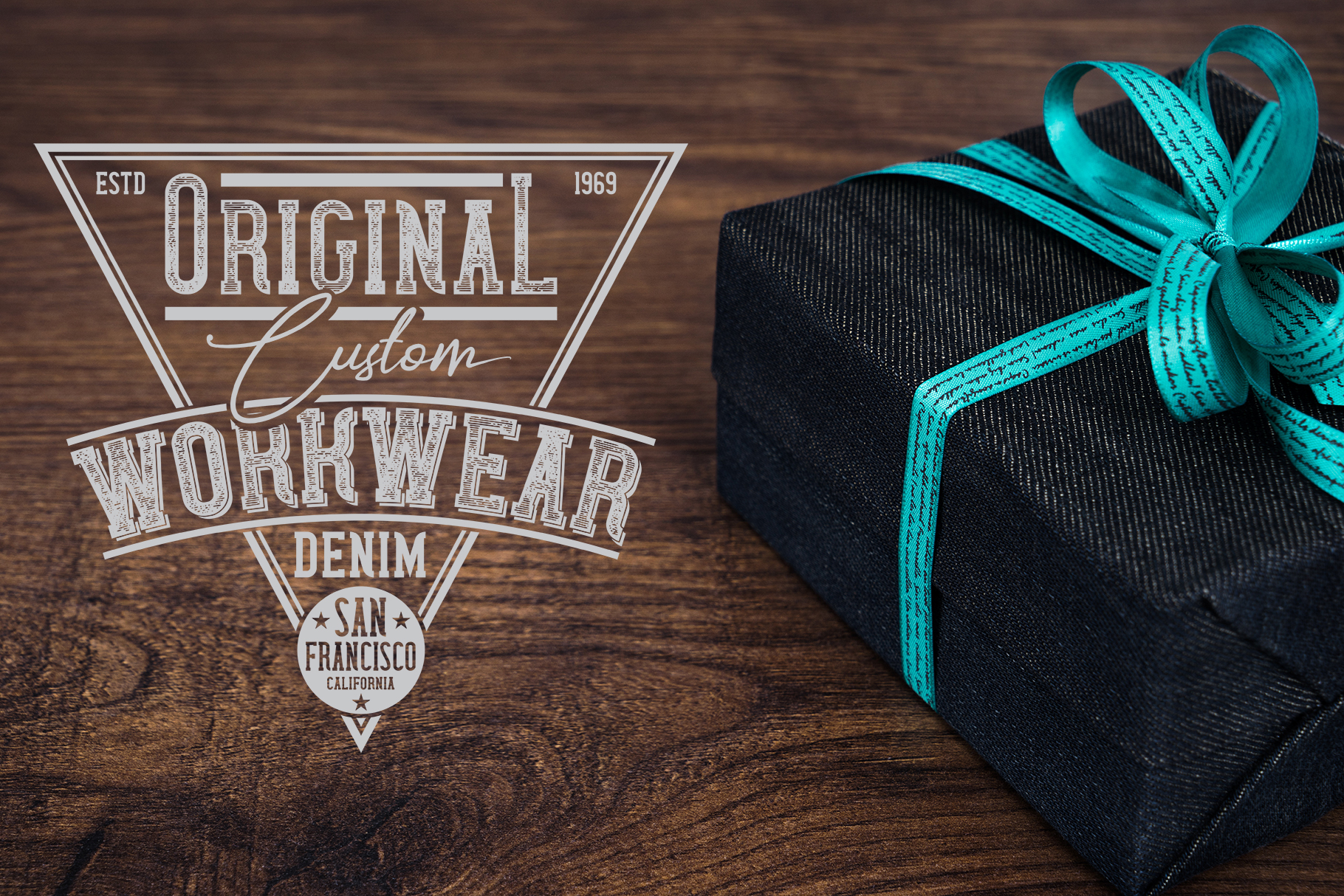 Wanted Denim layered font example image 8