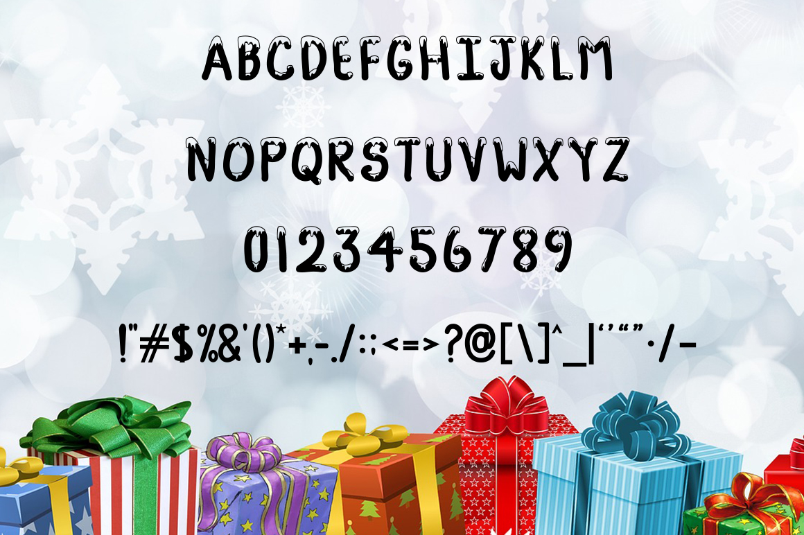Snow Fall - Snow Covered Font example image 2