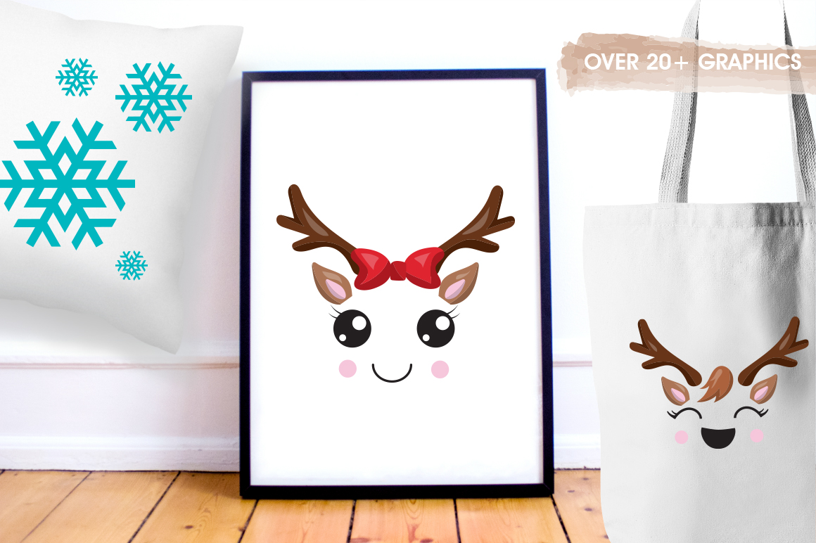 Little Reindeer graphic and illustrations example image 4