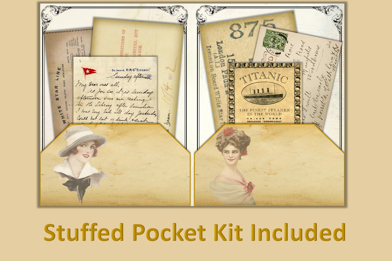 Titanic Journaling Kit with free ephemera JPEG, PDF and PNG example image 3